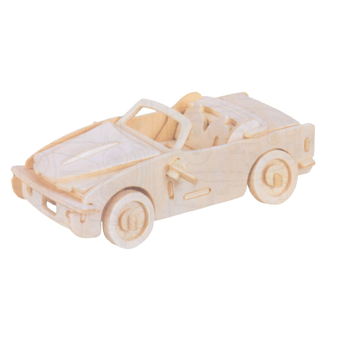 DIY Wooden 3D Puzzle Educational Playing Toy Car Model Gift by Unique-Bargains