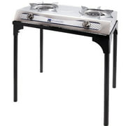 Stansport Stainless Steel 2 Burner Stove with Stand