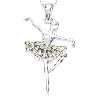 Dancer Pendant Necklace 925 Sterling Silver Black Rhodium Plated Ballet Ballerina Dance Music Jewellery