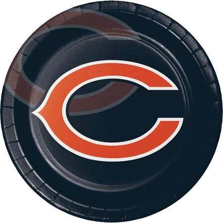Creative Converting Chicago Bears Paper Plates, 8 ct (Tower Place Chicago)