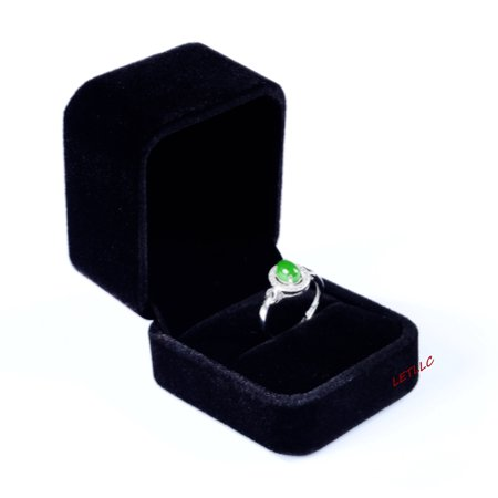 Ring Boy Gifts (Lily Treacy Deluxe Black Velvet Ring Box Engagement,weddings, Pocket size, Easy hide away, Gift,)