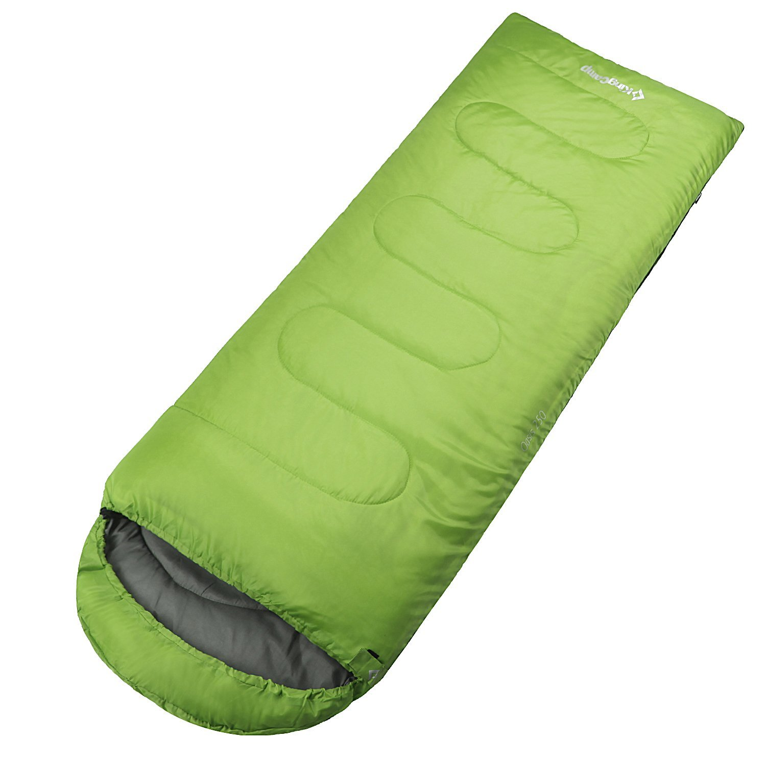 KingCamp Envelop Sleeping Bag 4 Season Portable Comfort with Free Hood, Compression Sack for Camping, Backpack, Outdoor by Kingcamp