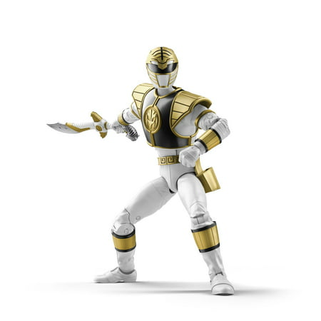 Power Rangers Lightning Collection 6-Inch Mighty Morphin White Ranger Collectible Action Figure - Power Ranger Toy Gun