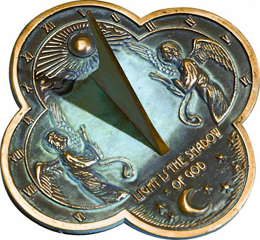 Angel Sundial with Motto by Rome Industries, Inc.