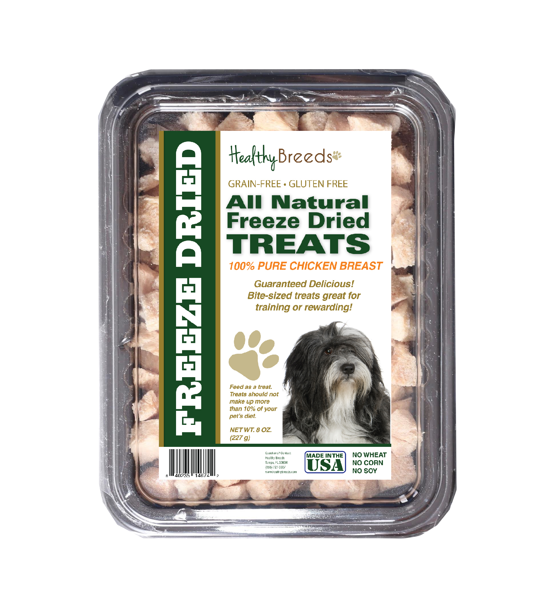 Healthy Breeds Lhasa Apso All Natural Freeze Dried Dog Treats Chicken Breast 8 oz