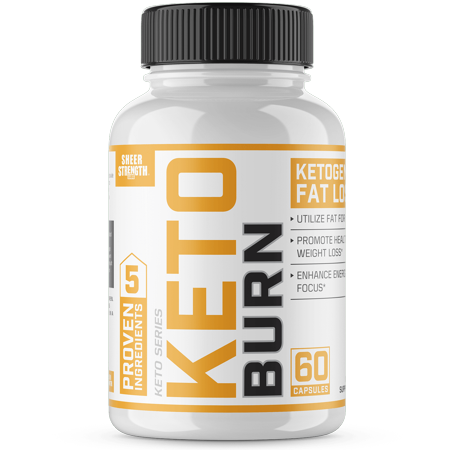 Sheer Keto Burn Ketogenic Fat Loss - Weight Management, Low-Carb Diet, Mental Focus & Clarity - 60 Count