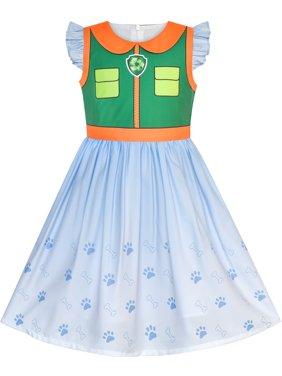 Girls Dress Paw Patrol Marshall Costume Halloween Party 3 Years