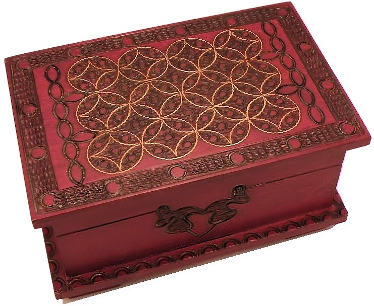 Click here to buy Celtic Chest (Large) Secret Wooden Puzzle Box by Winshare Puzzles and Games.