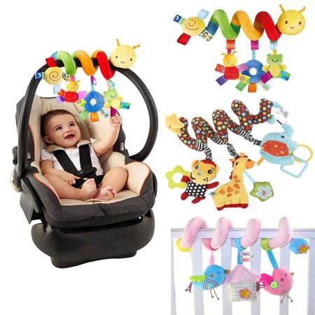 NUOLUX Kid Baby Crib Cot Pram Hanging Rattles Spiral Stroller&Car Seat Toy with Ringing Bell (Christian Toys For Toddlers)