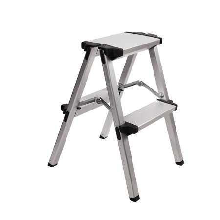 Redcamp Aluminum Folding Step Ladder 2 Step Sturdy Heavy