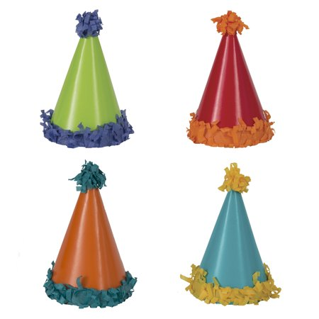 Pom Pom Mini Party Hats, 8ct - Mini Sombrero Party Hats