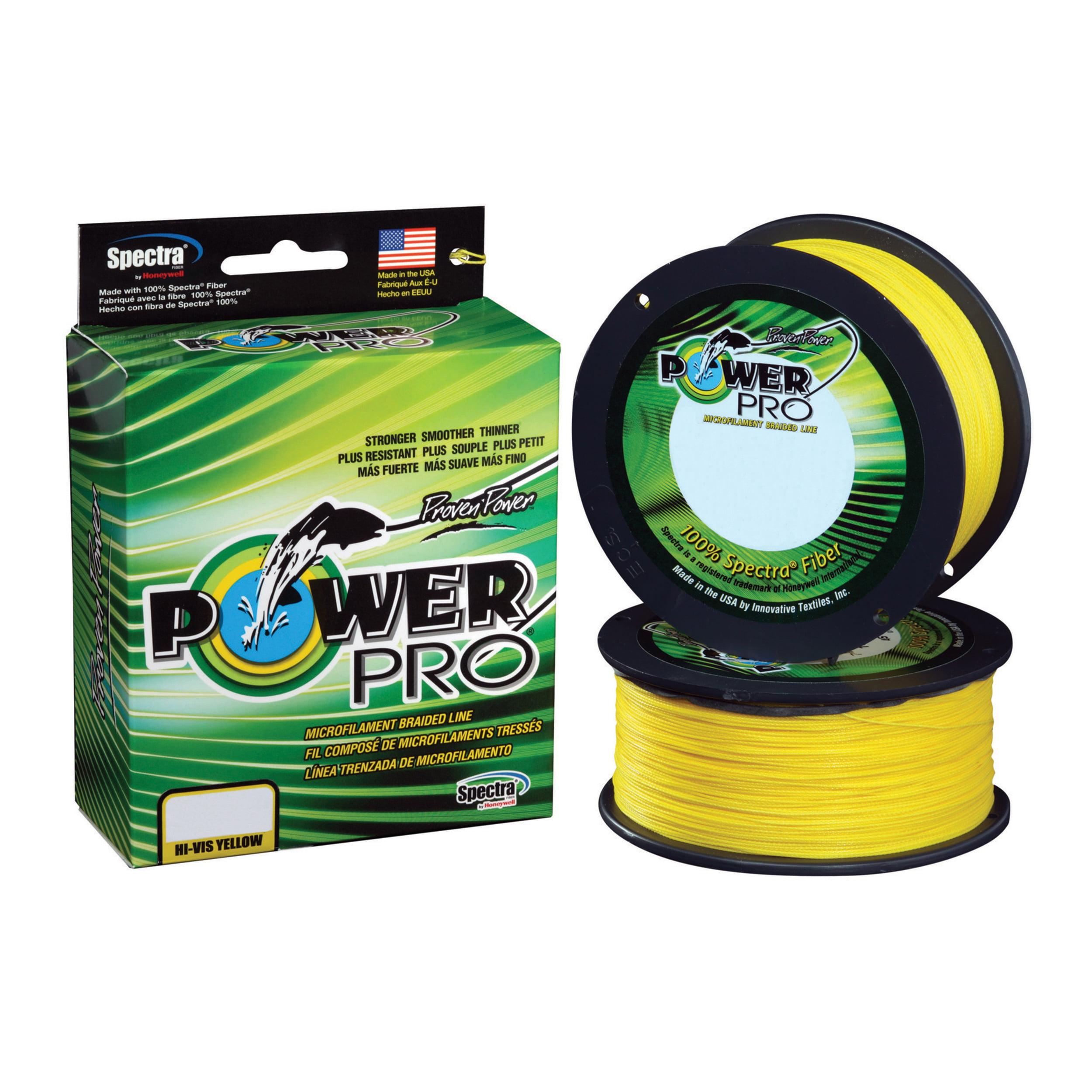 "Shimano PowerPro Braided Line 300 Yards. 8 lbs Tested, 0.005"" Diameter, Hi-Vis Yellow"