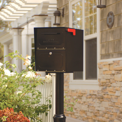 Locking Wall Mount Mailbox In Oil Rubbed Bronze Finish