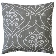 Premiere Home Barcelona Grey 17x17 Throw Pillow