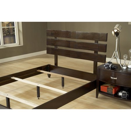 perugia platform queen size platform bed rails and slats chocolate brown. Black Bedroom Furniture Sets. Home Design Ideas