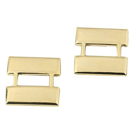 CAPTAIN Police Fire EMS Army Collar Brass Pins Insignia Badge Emblem GOLD Fin...