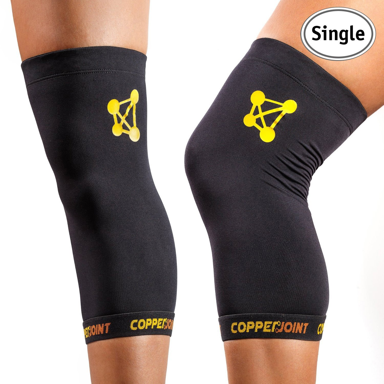 112f03d897 copperjoint knee sleeve #1 copper infused compression support | recovery  brace - Walmart.com