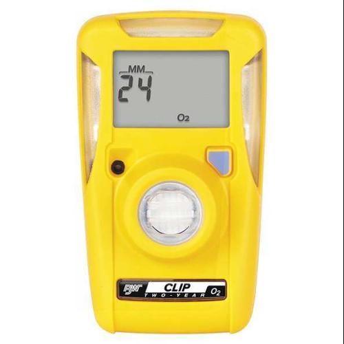 BW TECHNOLOGIES BWC2-X Single Gas Monitor,Detects O2,Yellow,LCD G0703066