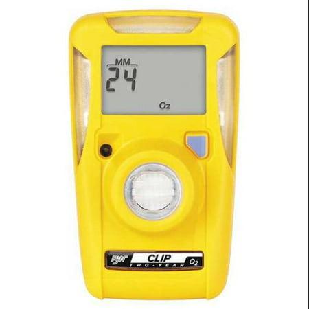BW TECHNOLOGIES BWC2-X Single Gas Monitor,Detects O2,Yellow,LCD G0703066