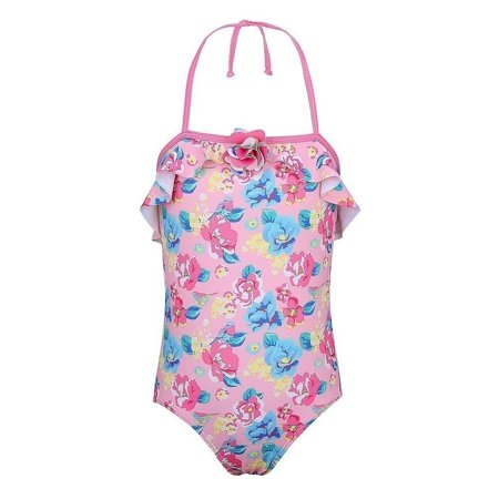 Sun Emporium Baby Girls Pink Blue Blossom Vintage Cut Out Swimsuit (Baby Cut Out)