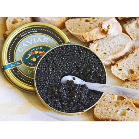 Tin of Black Caviar and Mother-Of-Pearl, Caviar Et Prestige, Saint Sulpice Et Cameyrac Print Wall Art By Per Karlsson