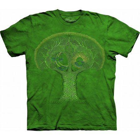 Green 100% Cotton Celtic Roots Graphic Novelty T-Shirt