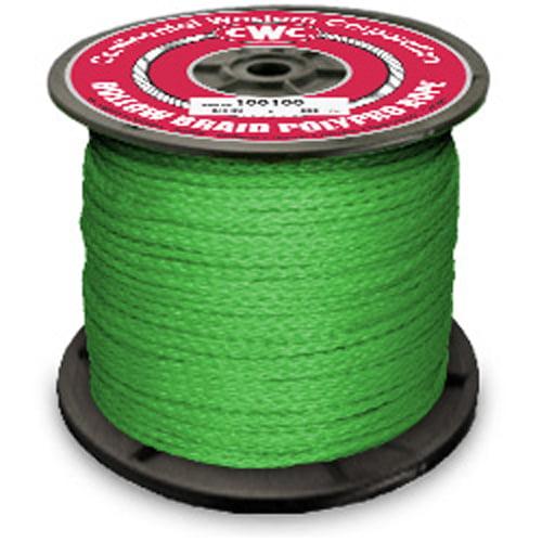 "CWC Hollow Braid Polypropylene Rope - 3/16"" x 660 ft., Green"