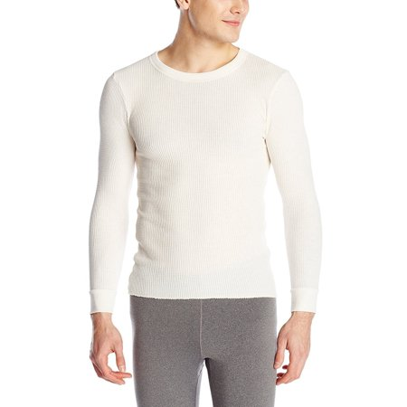 Fruit of the Loom Men's Classics Midweight Waffle Thermal Top (Large, Natural)