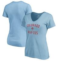 Colorado Rapids Fanatics Branded Women's Victory Arch V-Neck T-Shirt - Light Blue