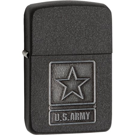Zippo Us Army Pewter Emblem 1941 Black Crackle Lighter Designer Jewelry by Sweet Pea