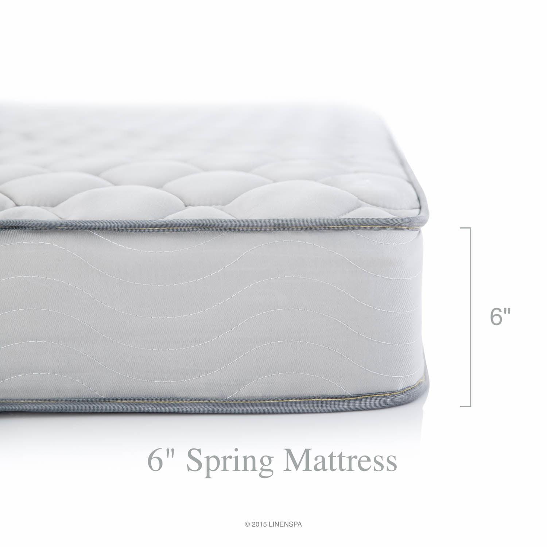 Linenspa 6 inch innerspring mattress in a box foam Mattress in a box