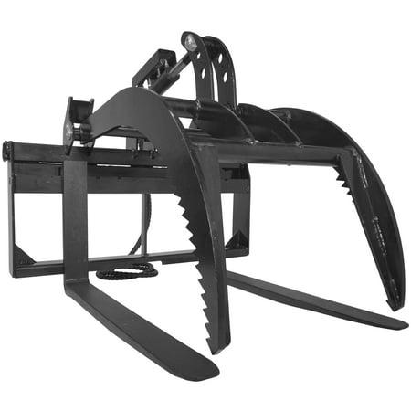 """42"""" Pallet Fork Grapple Attachment Skid Steer Loader Tine Rake Bucket"""