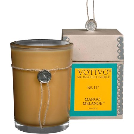 Votivo Aromatic Glass Candle Mango Melange