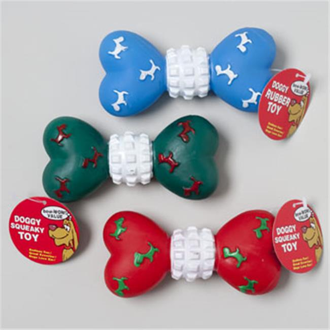 RGP 66911P Christmas Dog Toy Vinyl 5. 5 inch Bone With Squeaker In Pdq - Pack Of 72