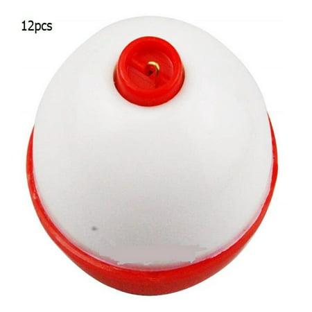 - 12pcs/Set Ball Shape Buoy Fishing Floats Set Buoyant Eco-friendly PC Buoy Fishing Drift Equipment Size:2 inches