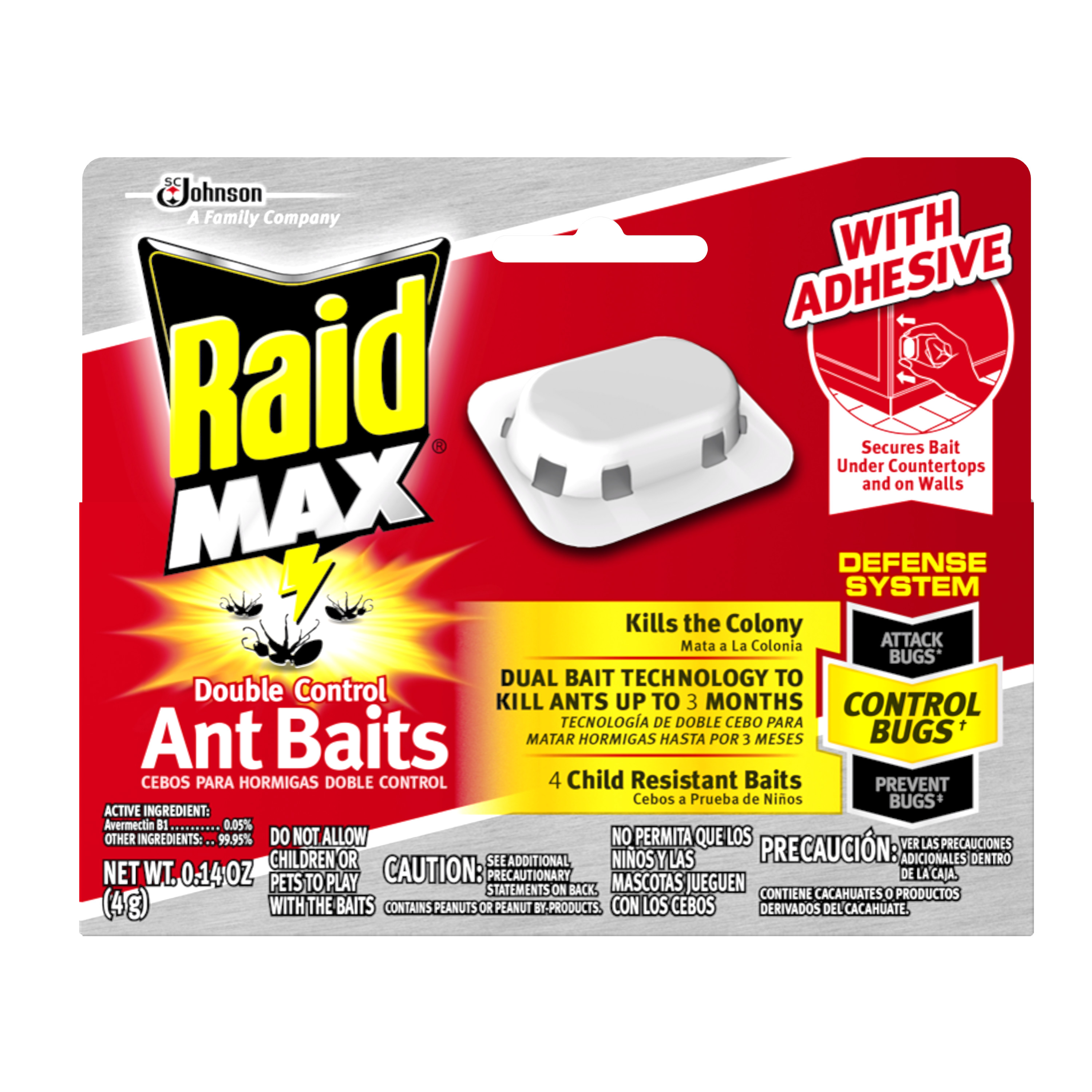 Raid Max Double Control Ant Baits 4 count
