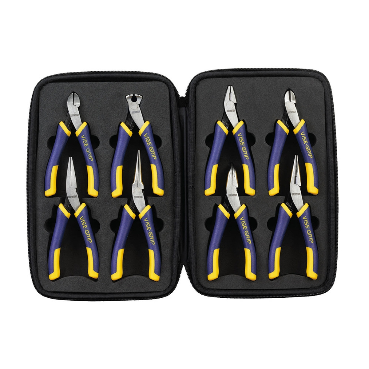 8Pc Mini Traditional Pliers Set with Case