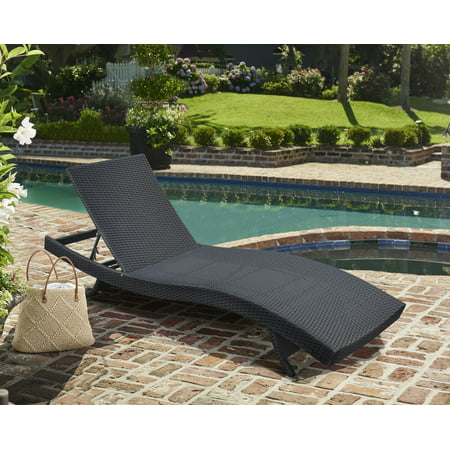 - Armen Living Cabana Outdoor Adjustable Wicker Chaise Lounge Chair