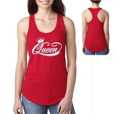 d18eea53894 Matching Couple Shirts King and Queen Valentines Tank Top XL Red Queen