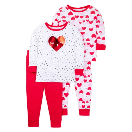378cfc8ee Little Star Organic - Valentine s Long Sleeve Tight Fit Organic ...