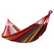 Portable Indoor/Outdoor Garden Canvas Hammock Canvas Bed Camping Porch Backyard Swing Chair Travel