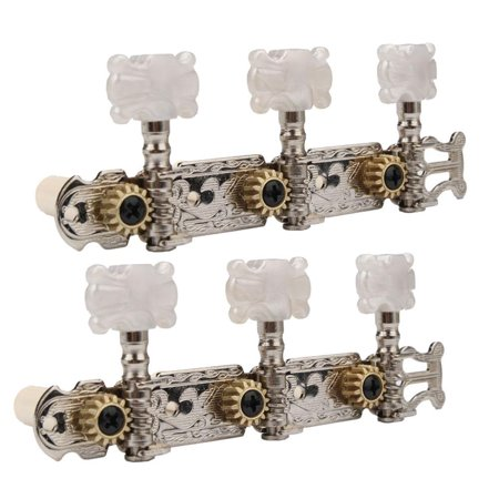 Ktaxon New 6pcs Classical Guitar Tuning Pegs Single Machine Heads Tuners Keys String