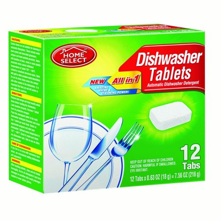 Select Scent (Home Select Dishwasher Tablets, Fresh Scent, 12 Ct )
