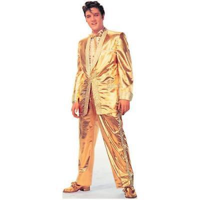 Gold Lame Elvis (IN-13577502 Elvis Presley - Gold LamE Talking Stand-Up 1)