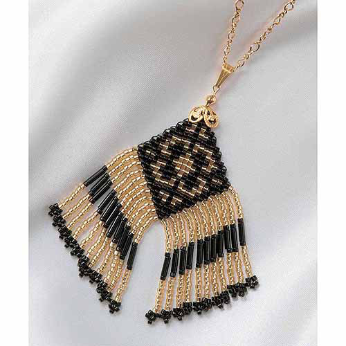 Clover Beading Loom Kit, Pendant Necklace