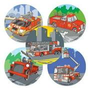 100 - Fire Trucks Stickers