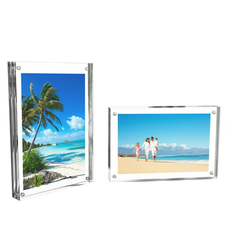 Acrylic Picture Frames 4x6 Freestanding Frame With Double Sided
