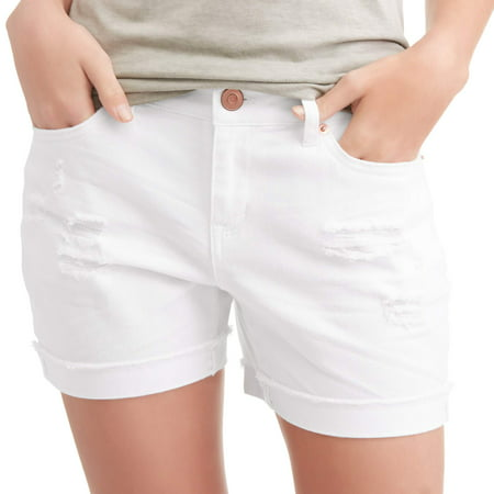 7ff6fd57d3 Time and Tru - Time and True Women's Denim Shorts - Walmart.com