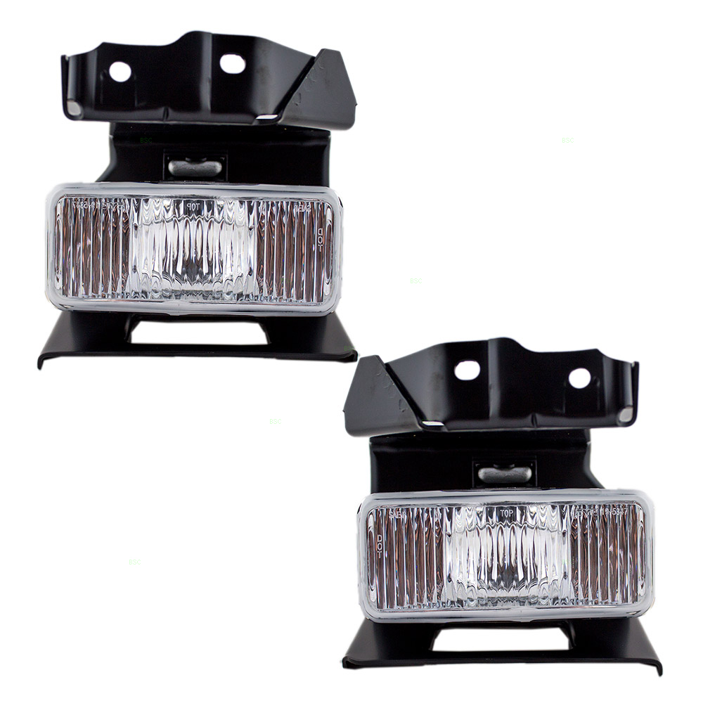 Driver and Passenger Fog Lights Lamps Bumper Mounted Replacement for Ford Mercury SUV F87Z15200DA F87Z15200CA