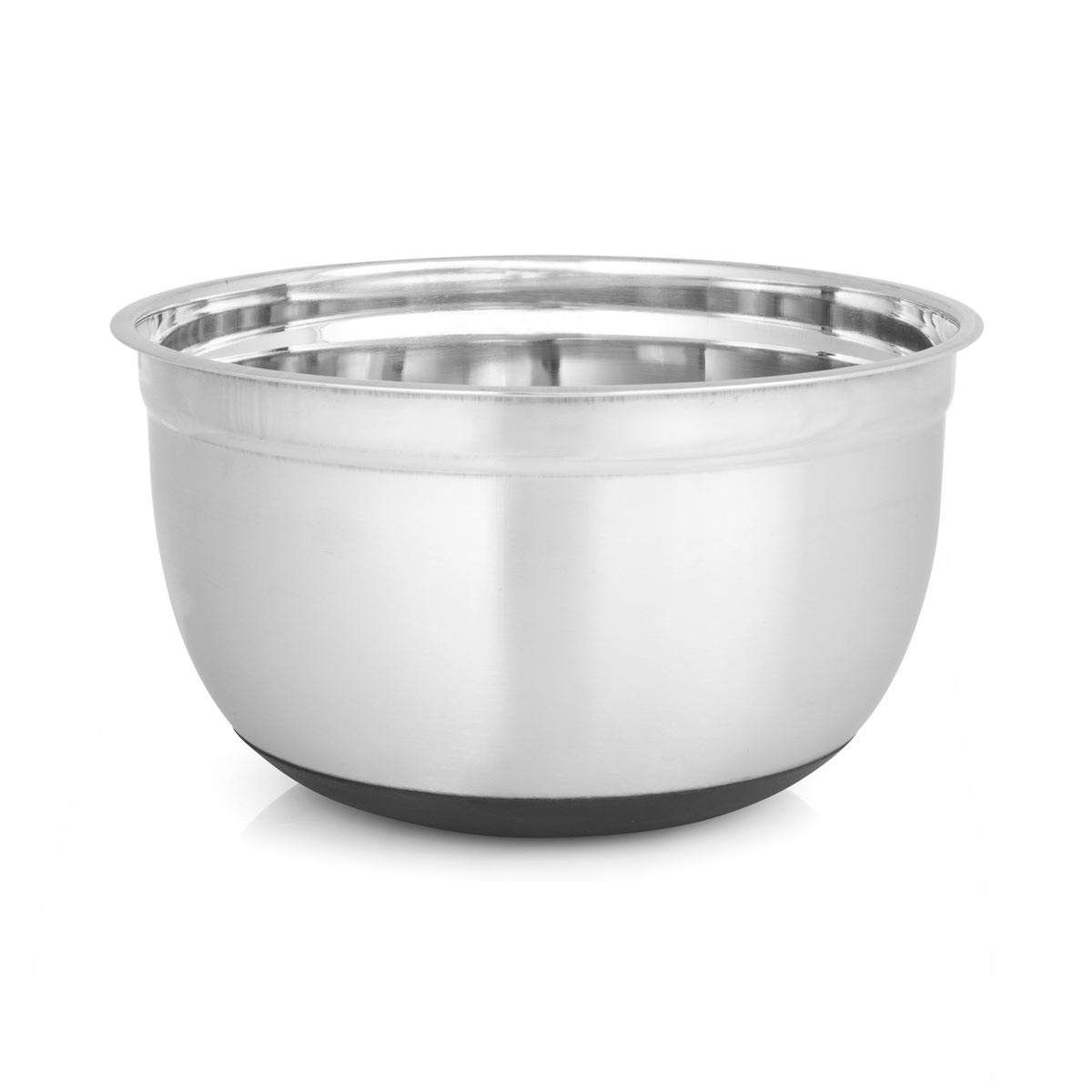 8 Qt. Stainless Steel Mixing Bowl with Black Silicone Base by